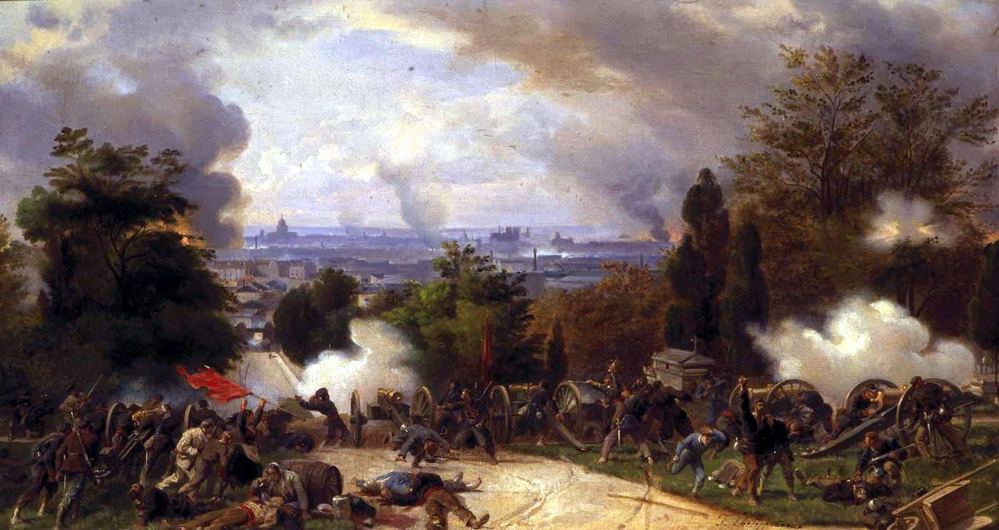Alt Derniers combats au Père-Lachaise, Henri Félix Emmanuel Philippoteaux,1871