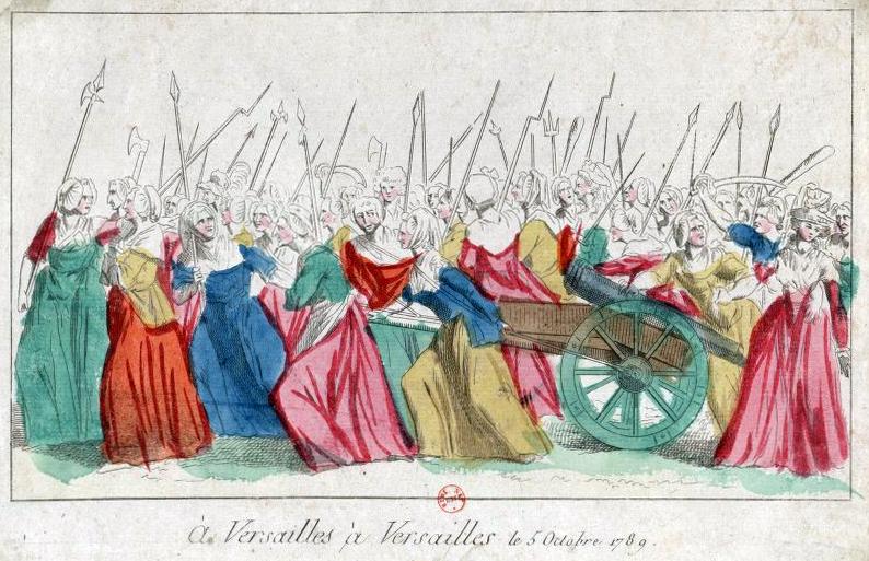 Alt Les femmes allant chercher le roi à Versailles, 1789