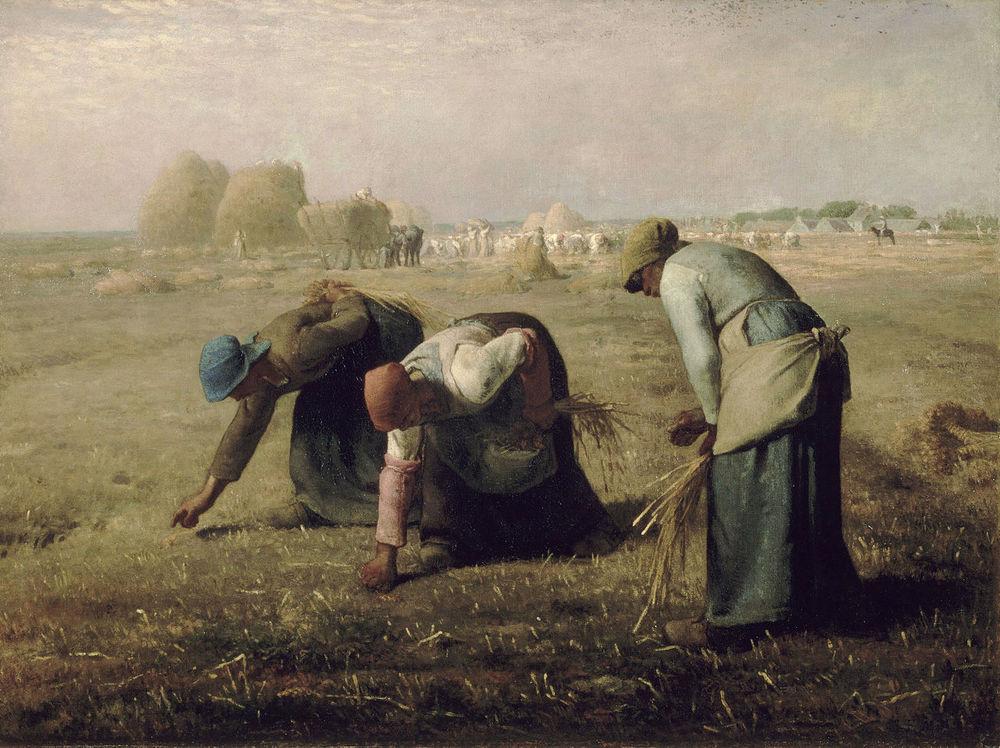 Alt Des glaneuses,Jean-François Millet, 1857