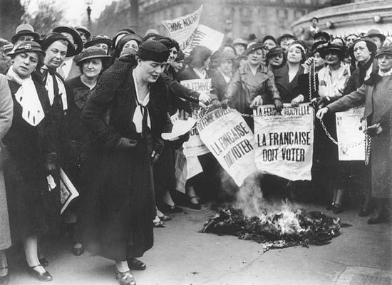 Alt Des suffragettes en1935