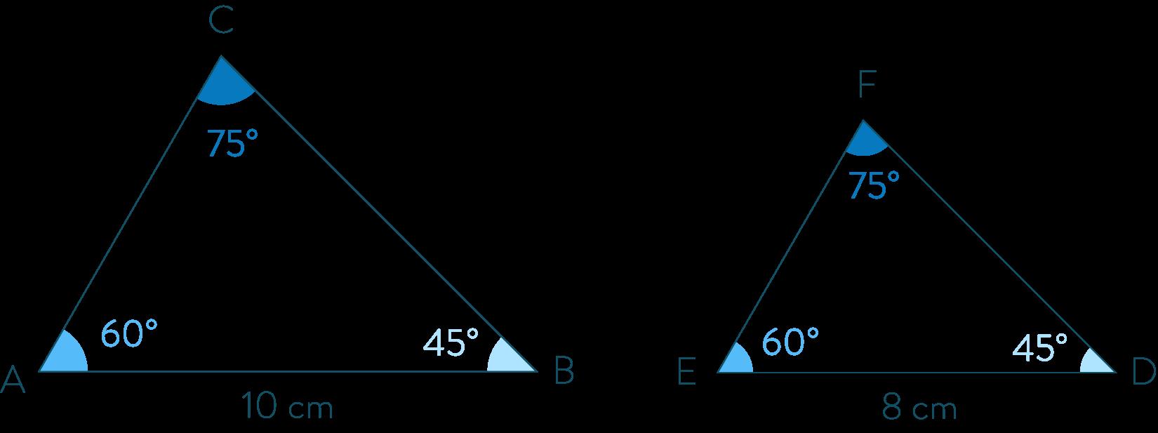 Triangles aux même mesures d'angles-Mathématiques-4e