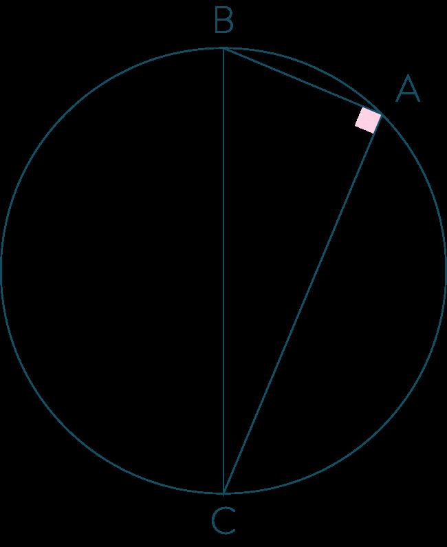 Triangle rectangle en A et cercle-Mathématiques-4e