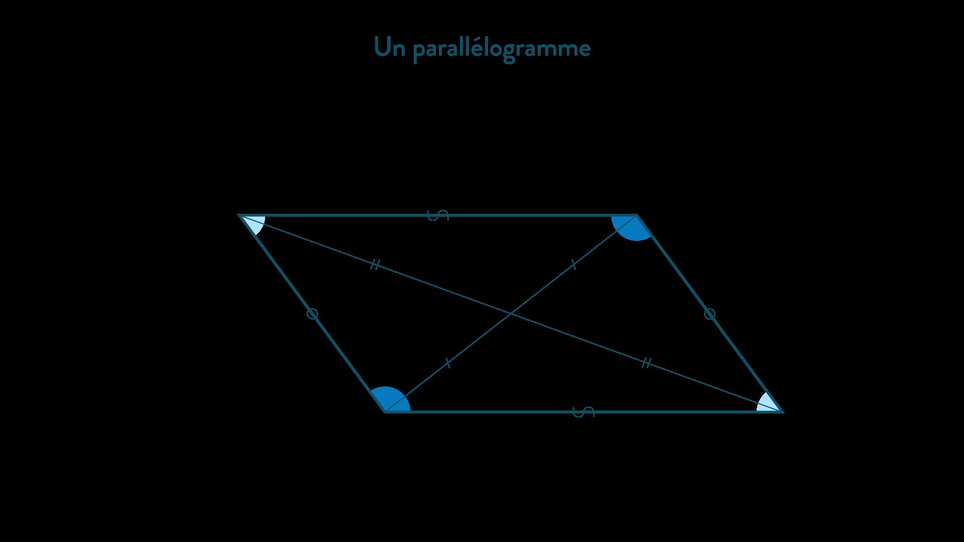 Un parallélogramme-Mathématiques-4e