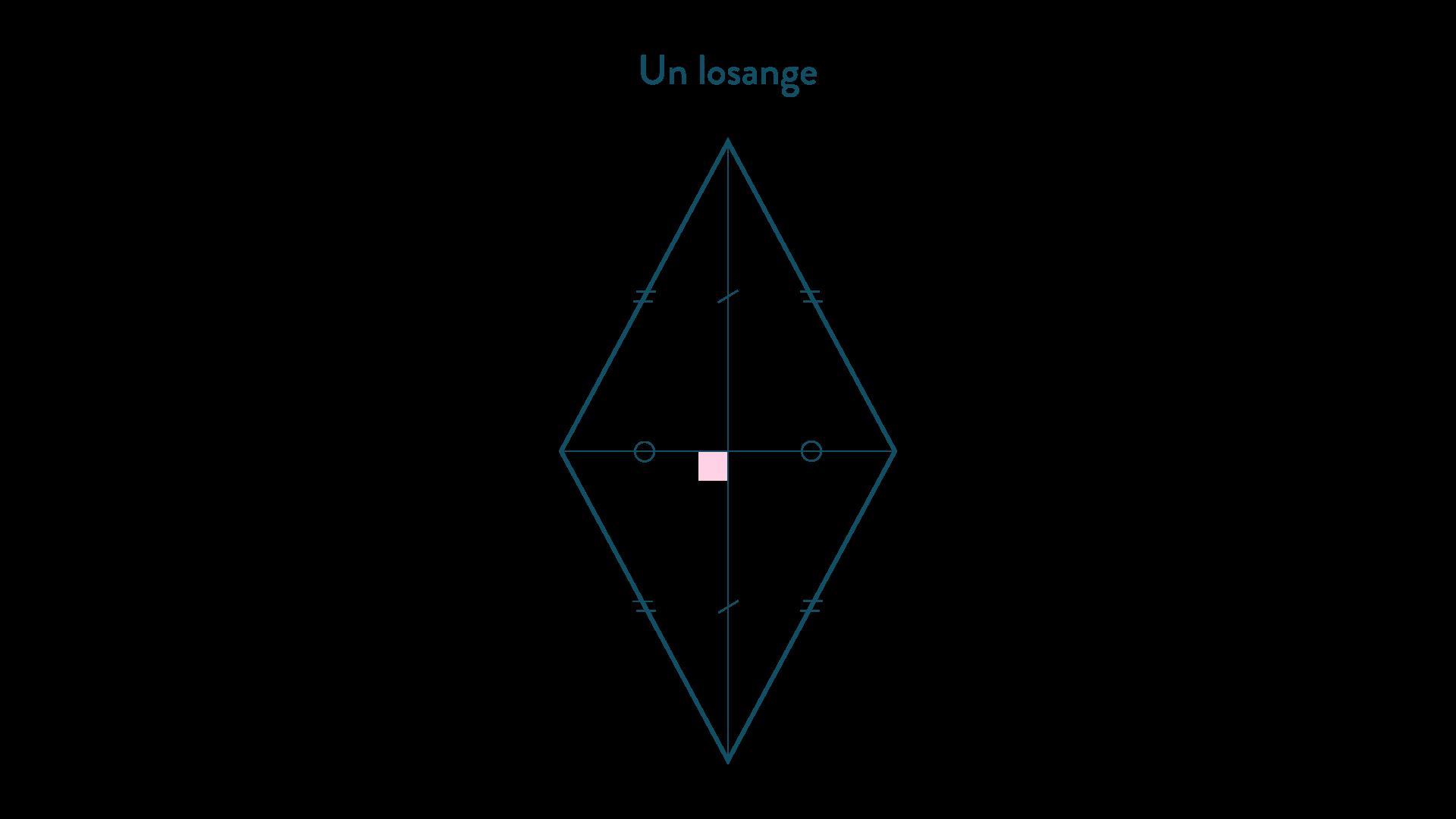 Un losange-Mathématiques-4e