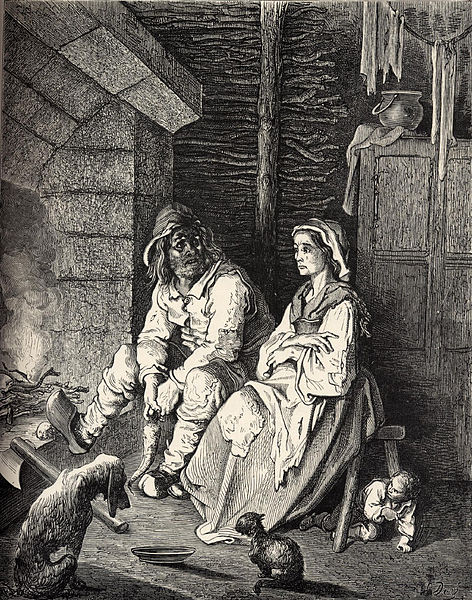 «Le Petit Poucet», <em>Les Contes de ma mère l'Oye</em>, illustration de Gustave Doré, 1897