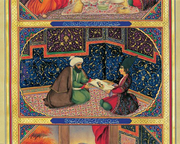 Illustration des Mille et Une nuits, Sani ol-Molk, 1853