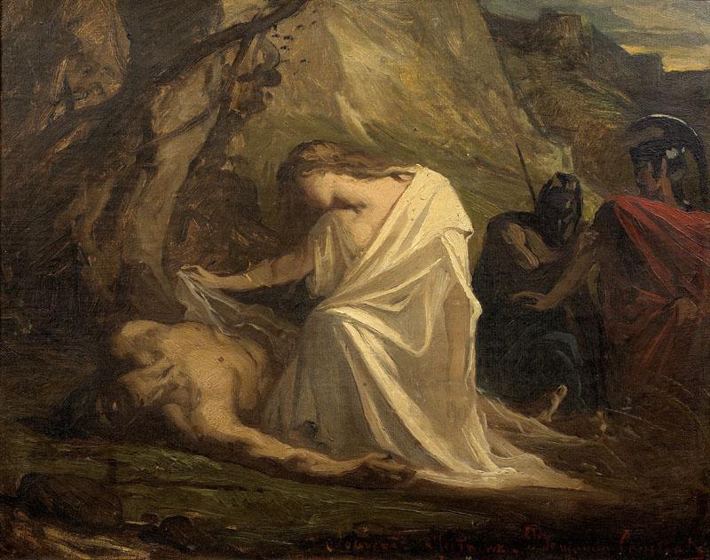 Antigone et Polynice, Benjamin Constant, Musée des Augustins, 1806