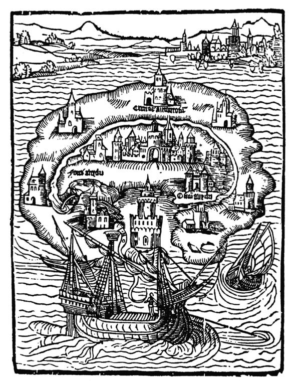 Représentation de l'île d'Utopie – Rudi Palla, 1516