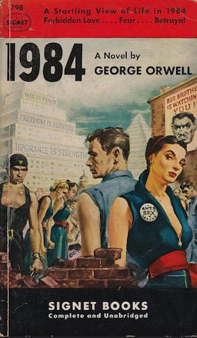 Couverture datant des années 60 de <em>1984</em> par George Orwell, 1949