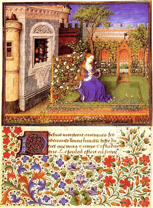 Barthélémyd'Eyck, Émilie dans son jardin, La Théséide de Boccace