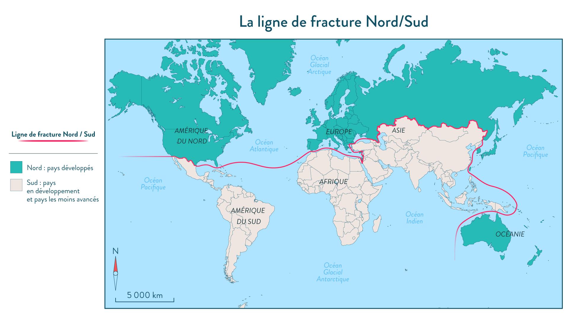 La ligne de fracture Nord/Sud géographie cinquième
