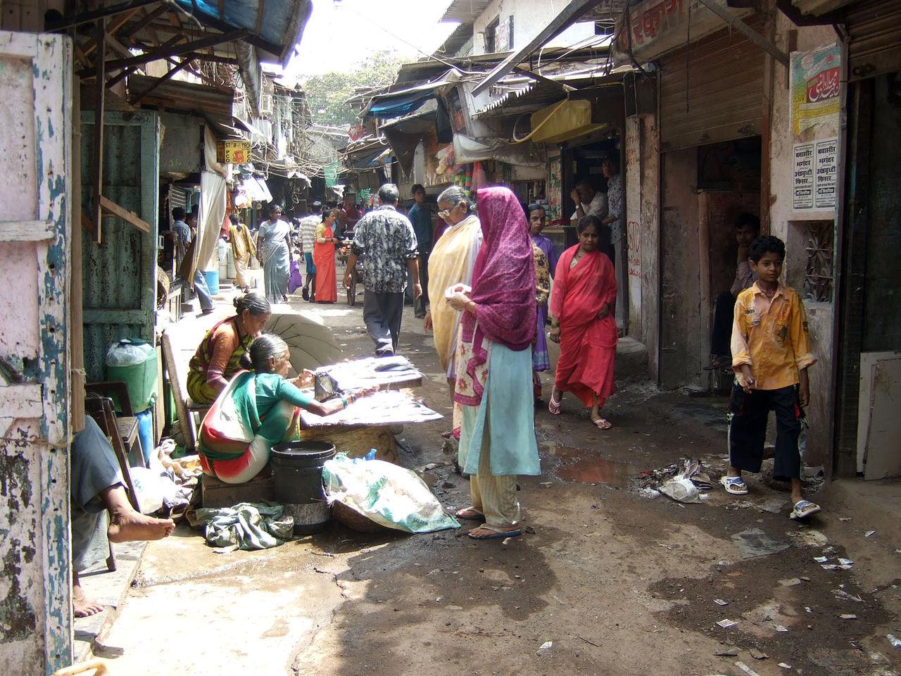 Le bidonville de Dharavi, à Mumbai, est le plus grand d'Asie ©Kounosu