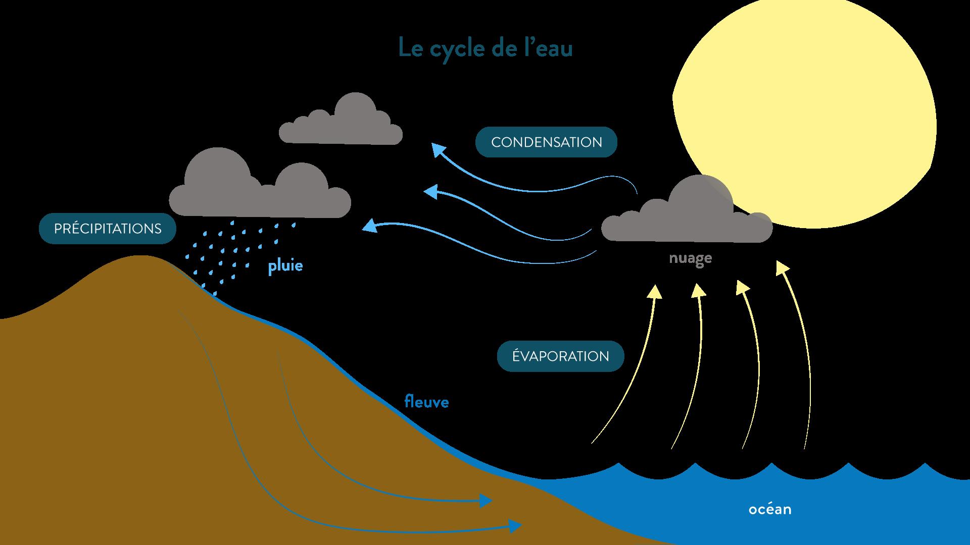 Le cycle de l'eau géographie cinquième