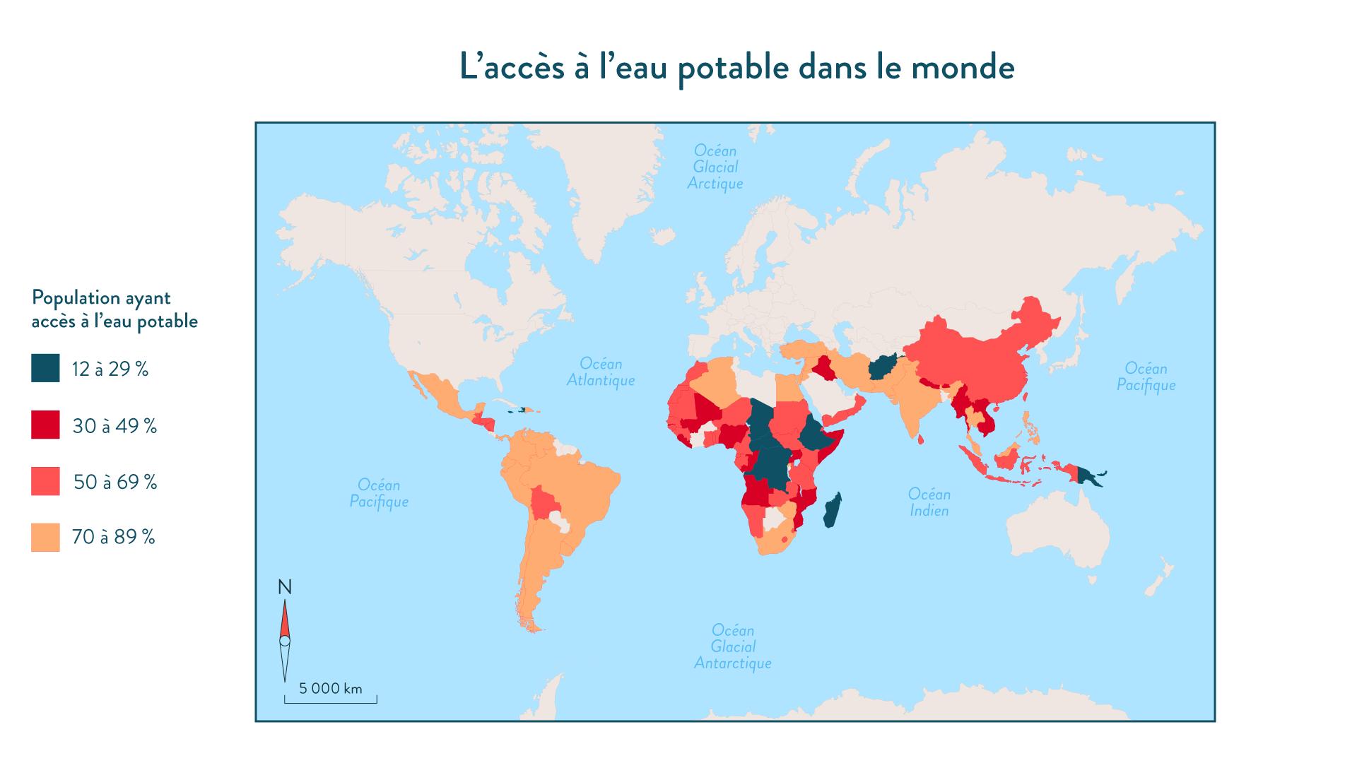 L'accès à l'eau potable dans le monde géographie cinquième