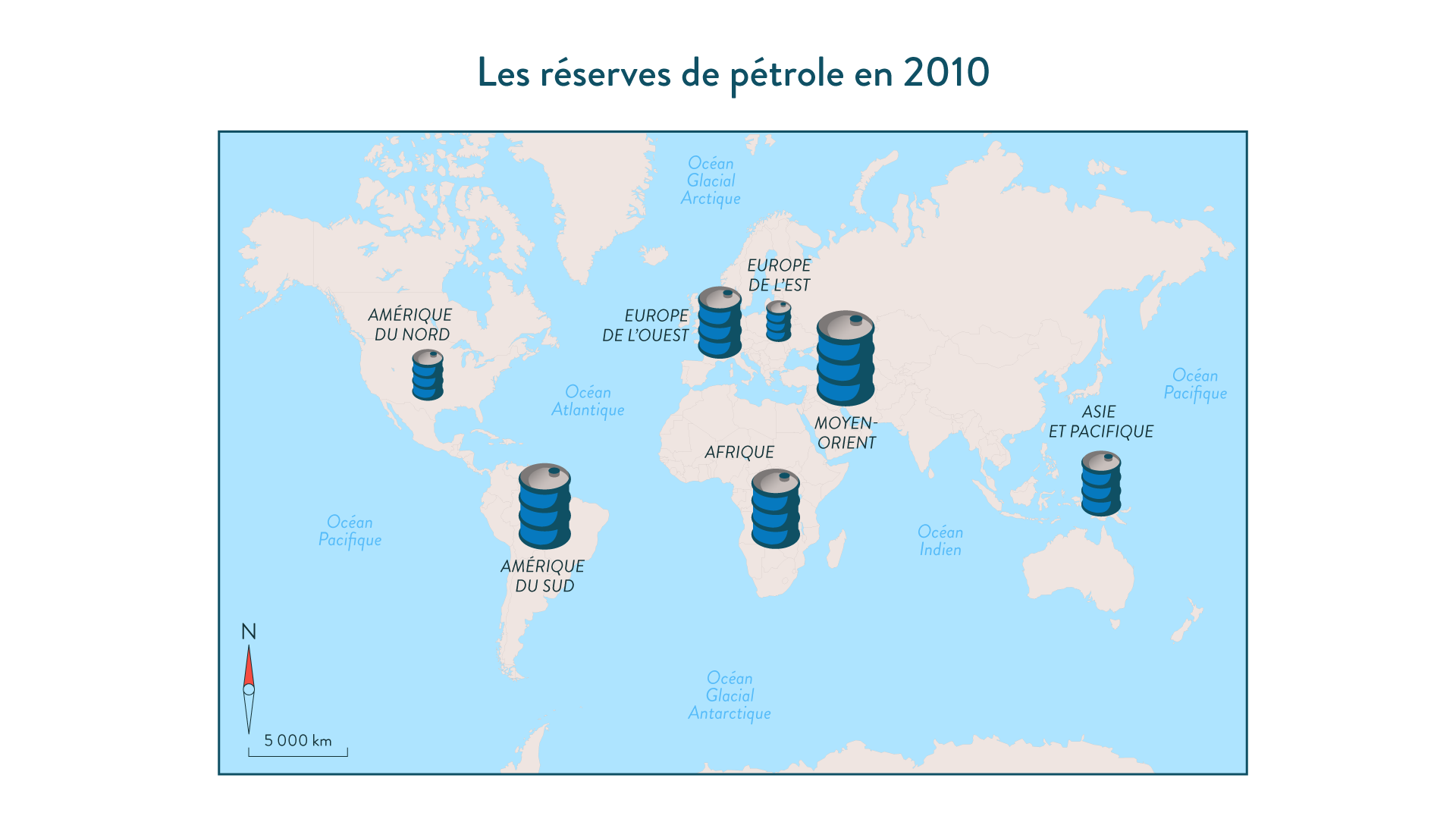Les réserves prouvées de pétrole en 2010 géographie cinquième