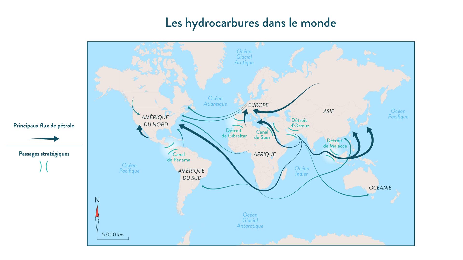 Les hydrocarbures dans le monde
