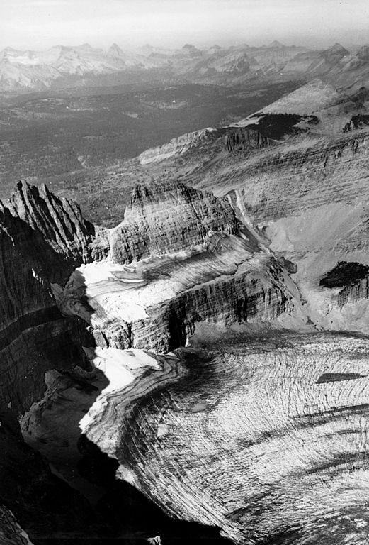 Le glacier de Grinnell en 1938