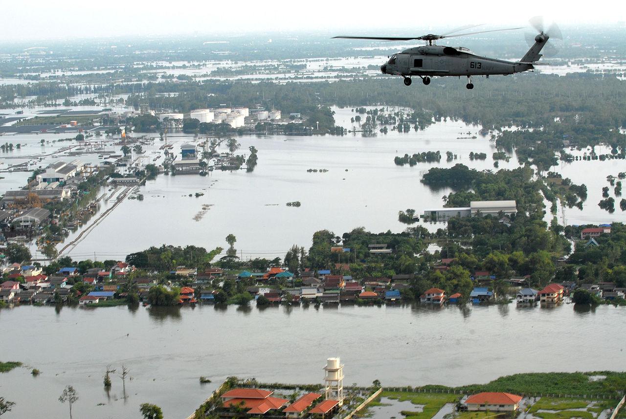Les inondations provoquées par la mousson en2011, en Thaïlande