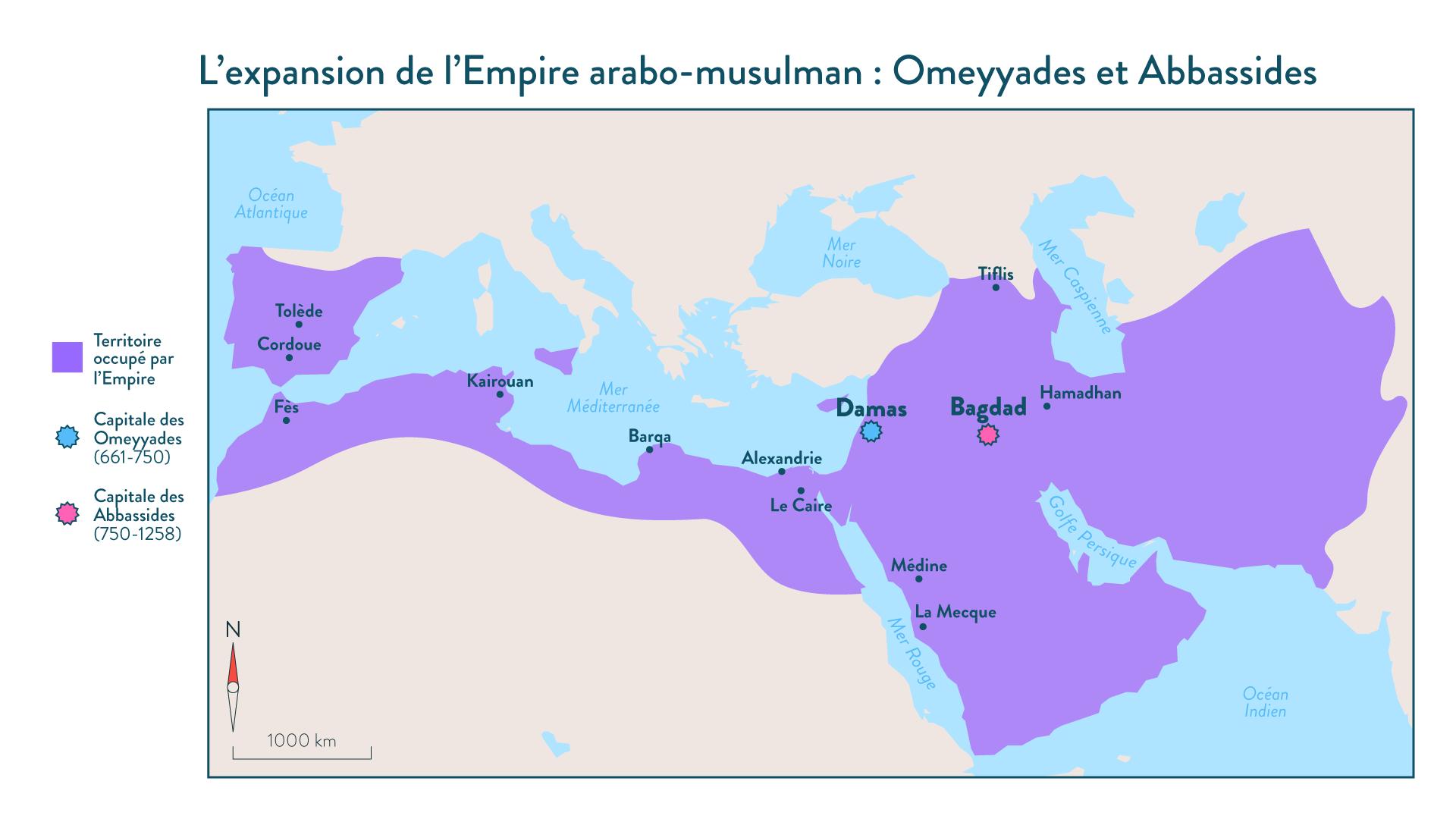 L'expansion de l'Empire arabo-musulman: Omeyyades et Abbassides - 5e - Histoire