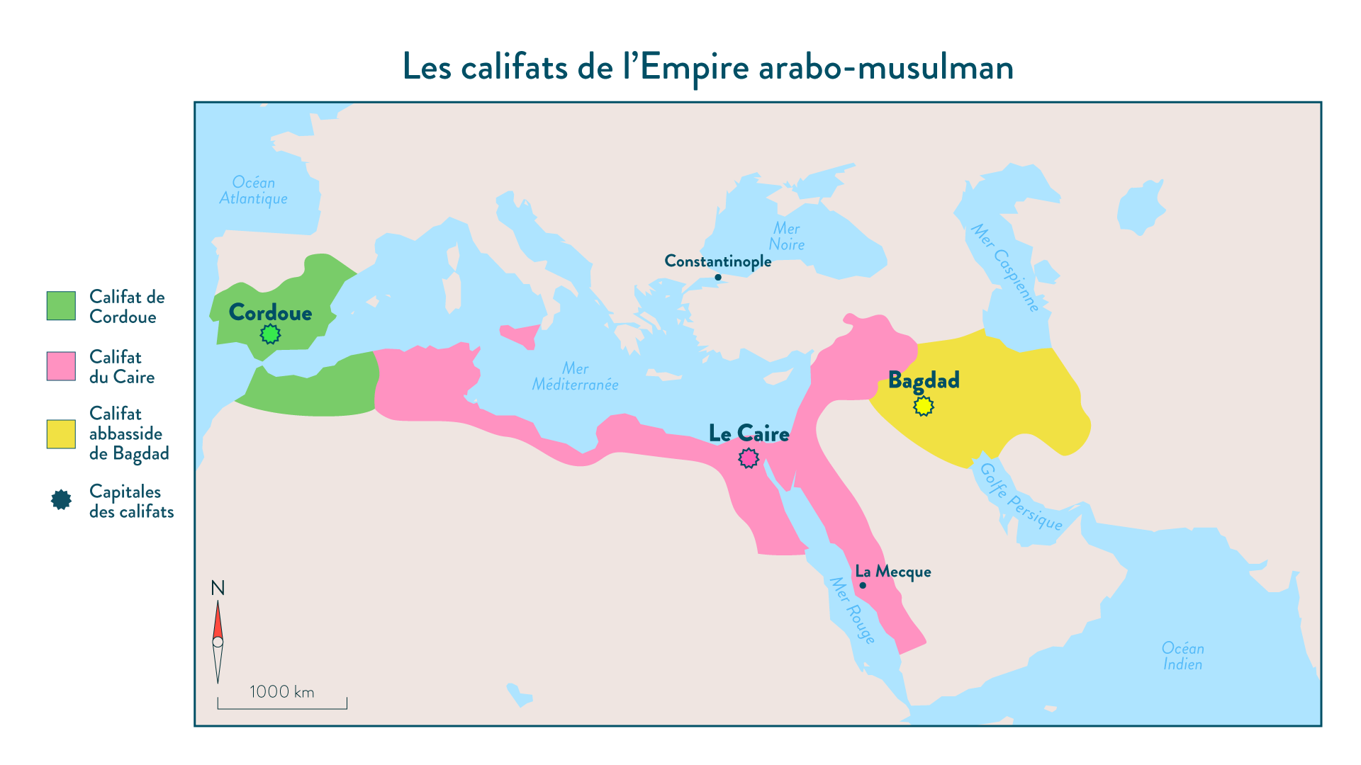Les califats de lEmpire arabo-musulman au Xe siècle - 5e - Histoire