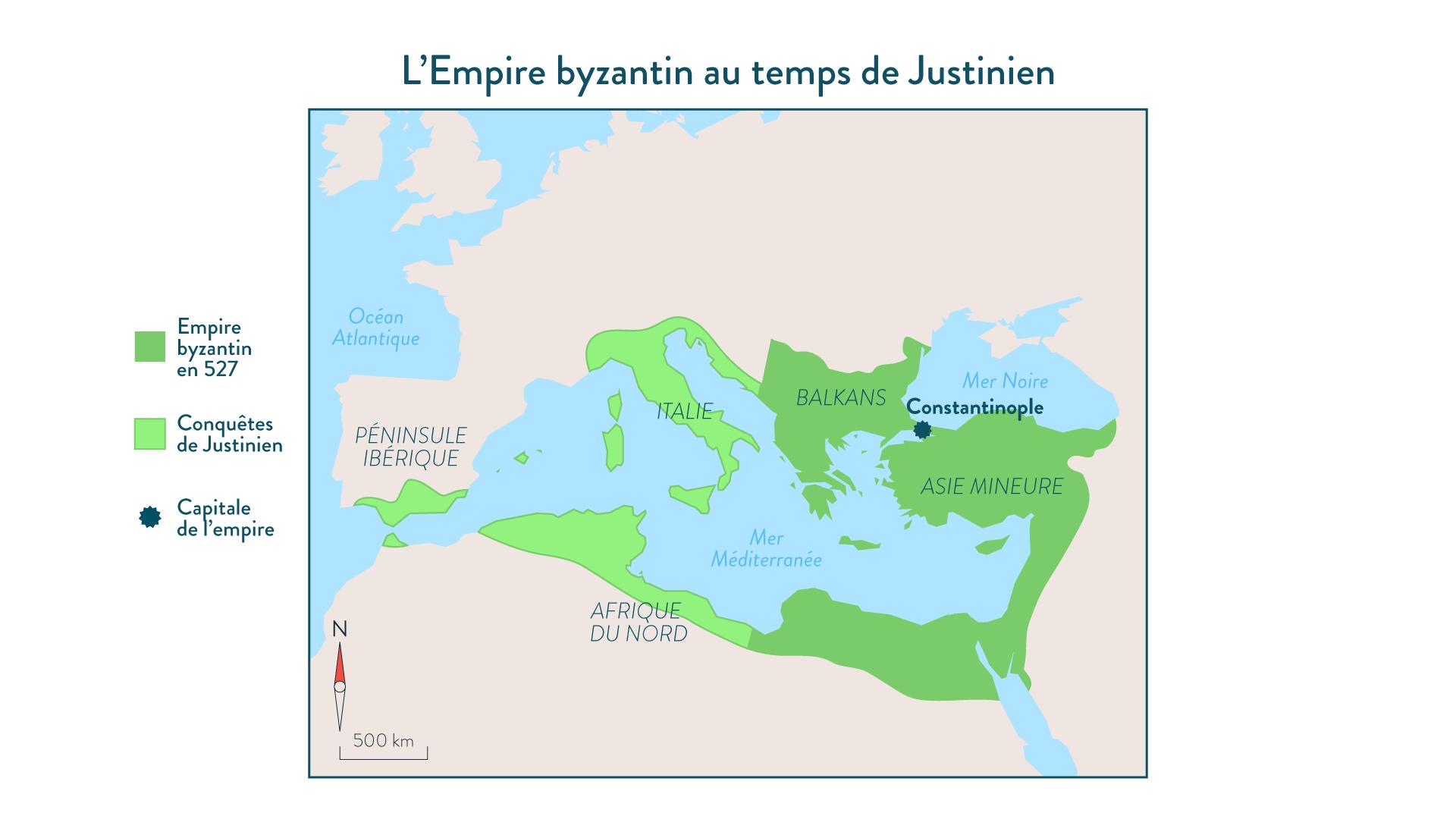 L'Empire byzantin au temps de Justinien - 5e - Histoire