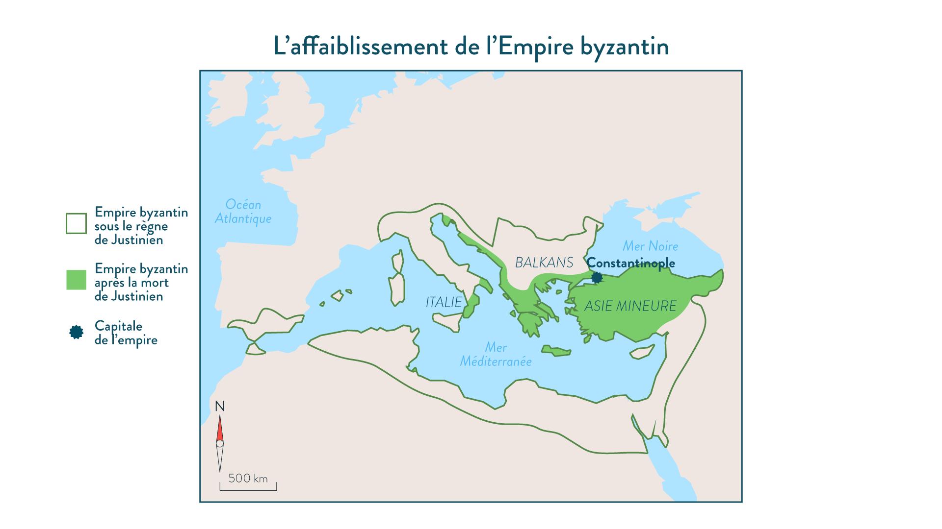 L'affaiblissement de l'Empire byzantin - 5e - Histoire