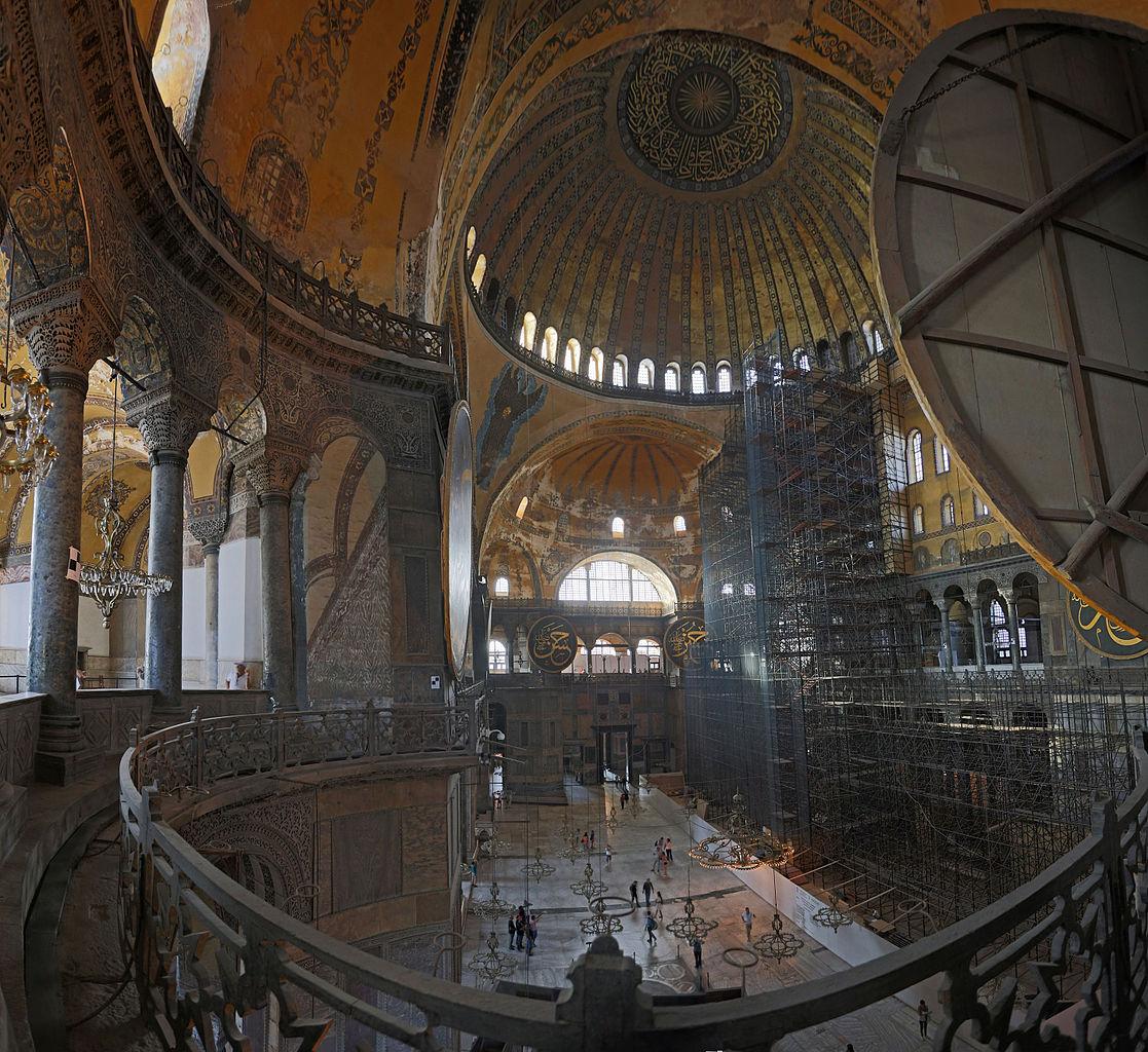 Vue intérieure de l'église Sainte-Sophie