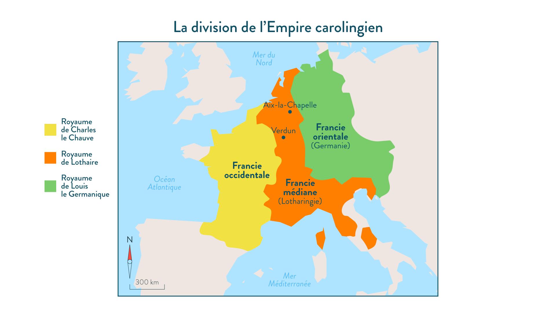 La division de l'Empire carolingien-histoire-5e