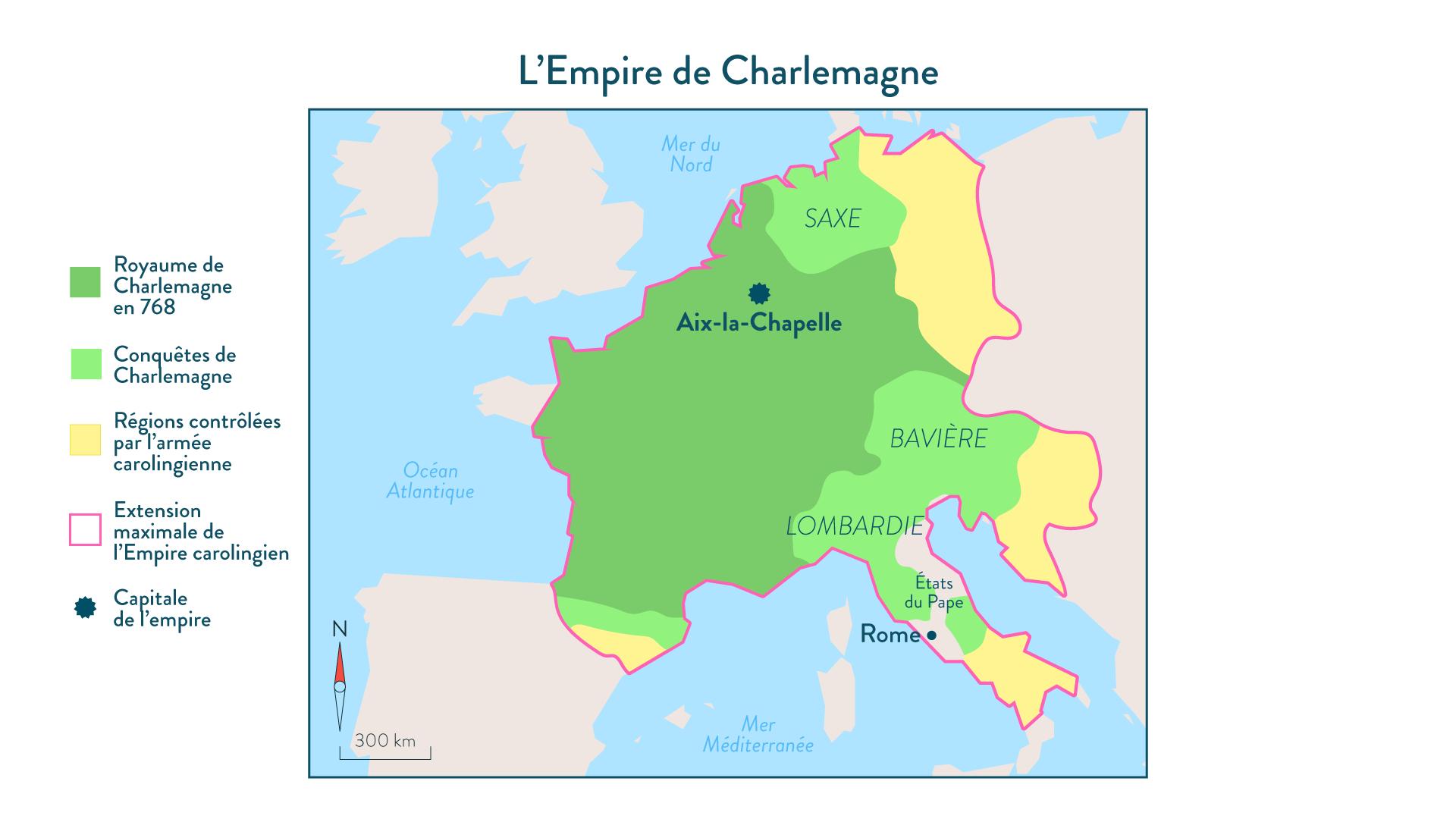 L'Empire de Charlemagne - 5e - histoire