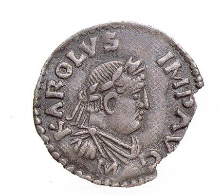 Le denier de Charlemagne. Denier d'argent de810, BNF, Paris