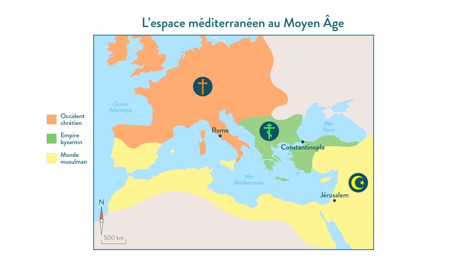L'espace méditerranéen au Moyen Âge - 5e - histoire