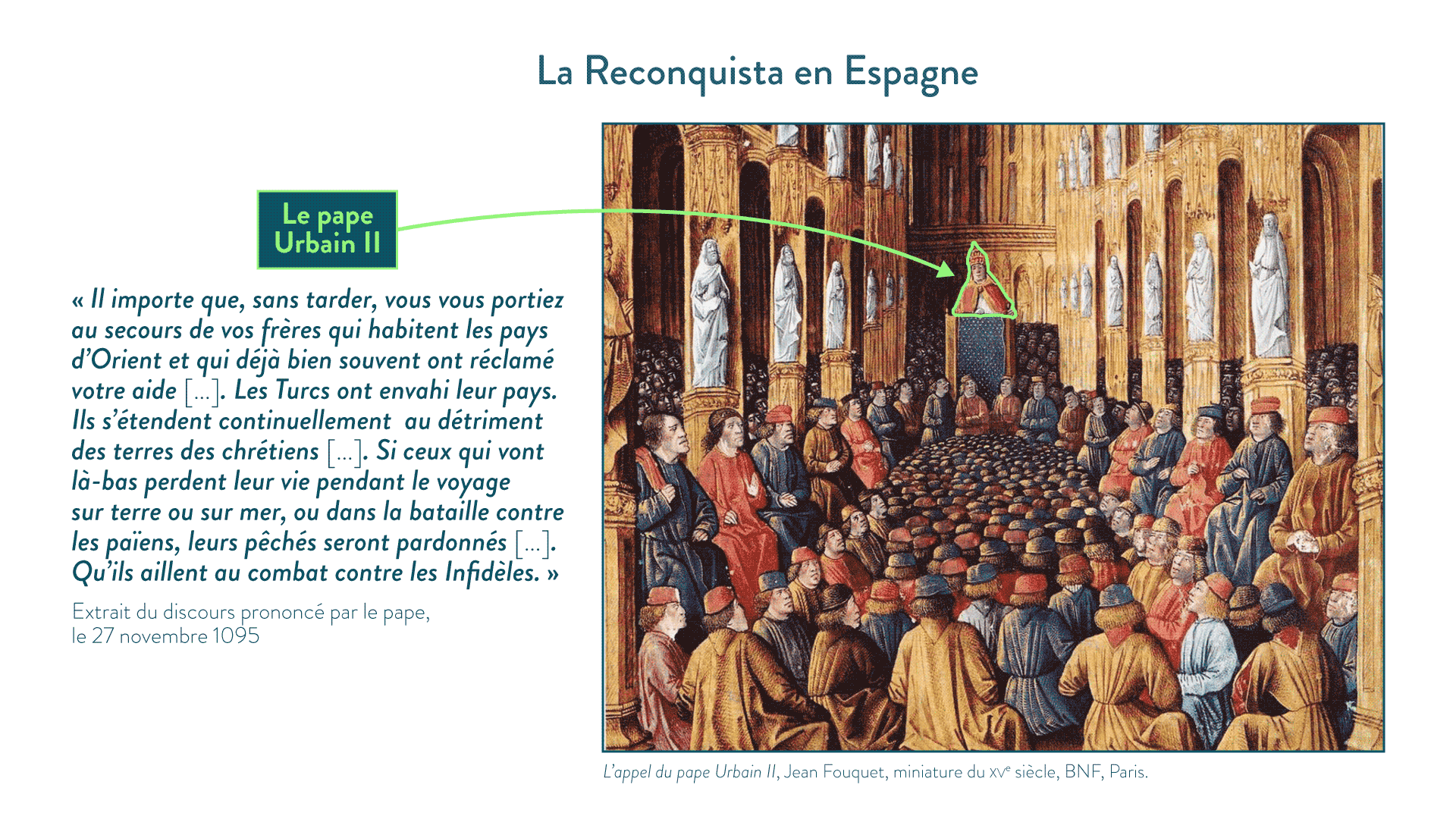 L'appel du pape Urbain II - 5e - histoire