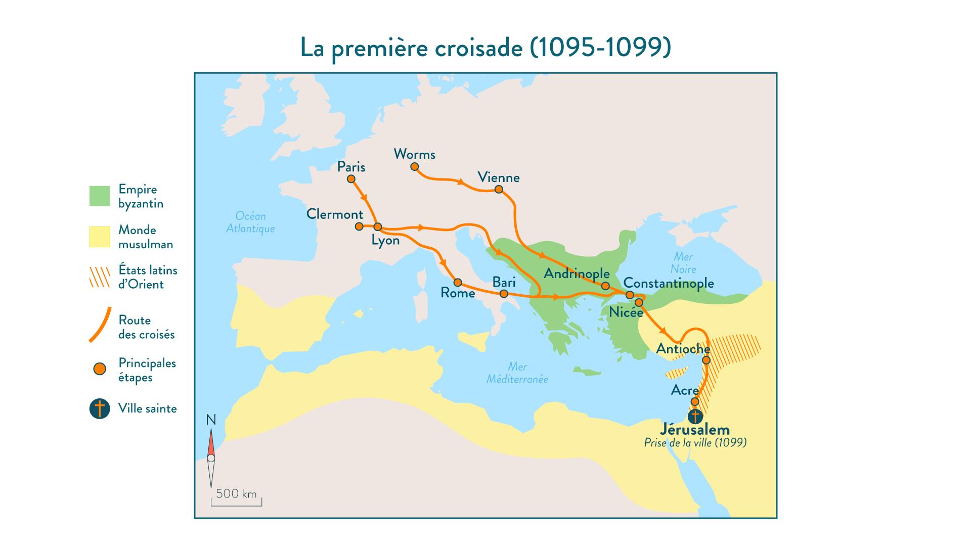 La première croisade (1095-1099) - 5e - histoire