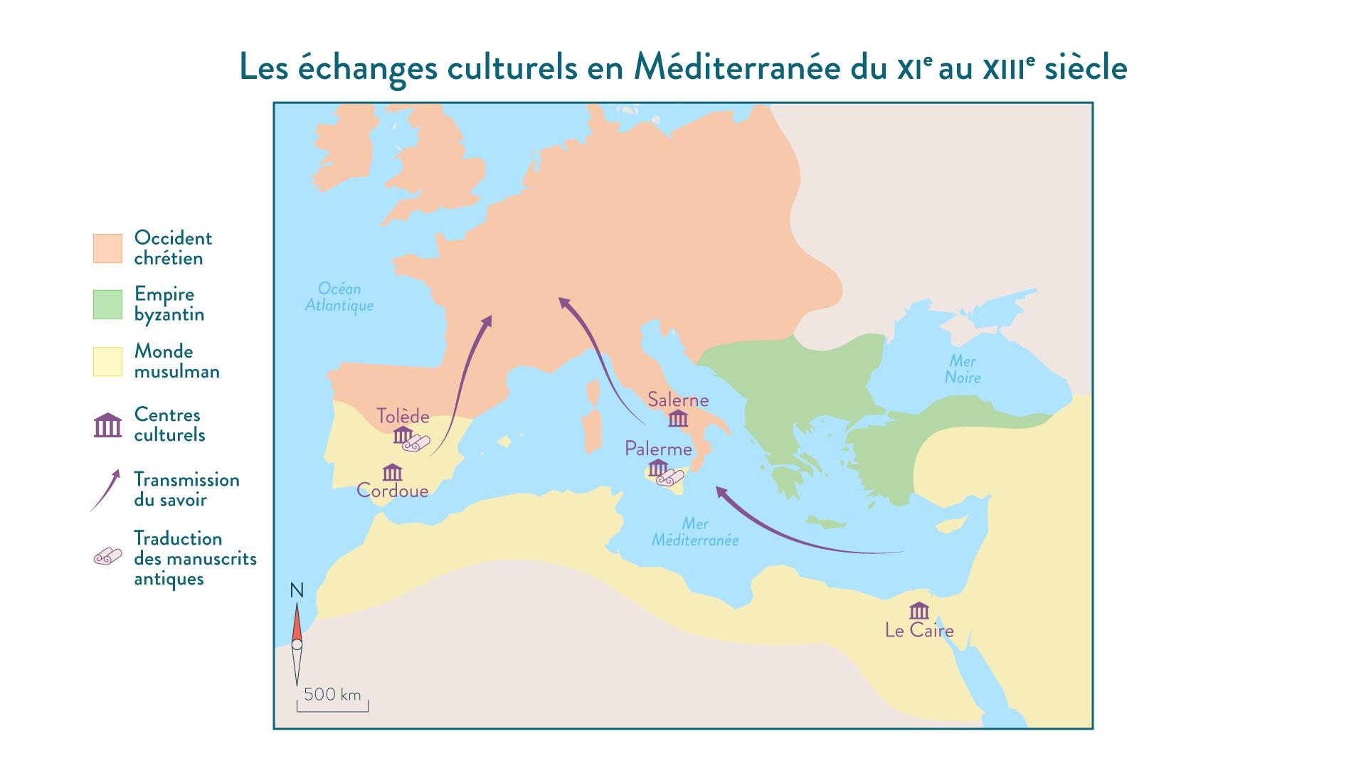 Les échanges culturels en Méditerranée du XIe au XIIIe siècle - 5e - histoire