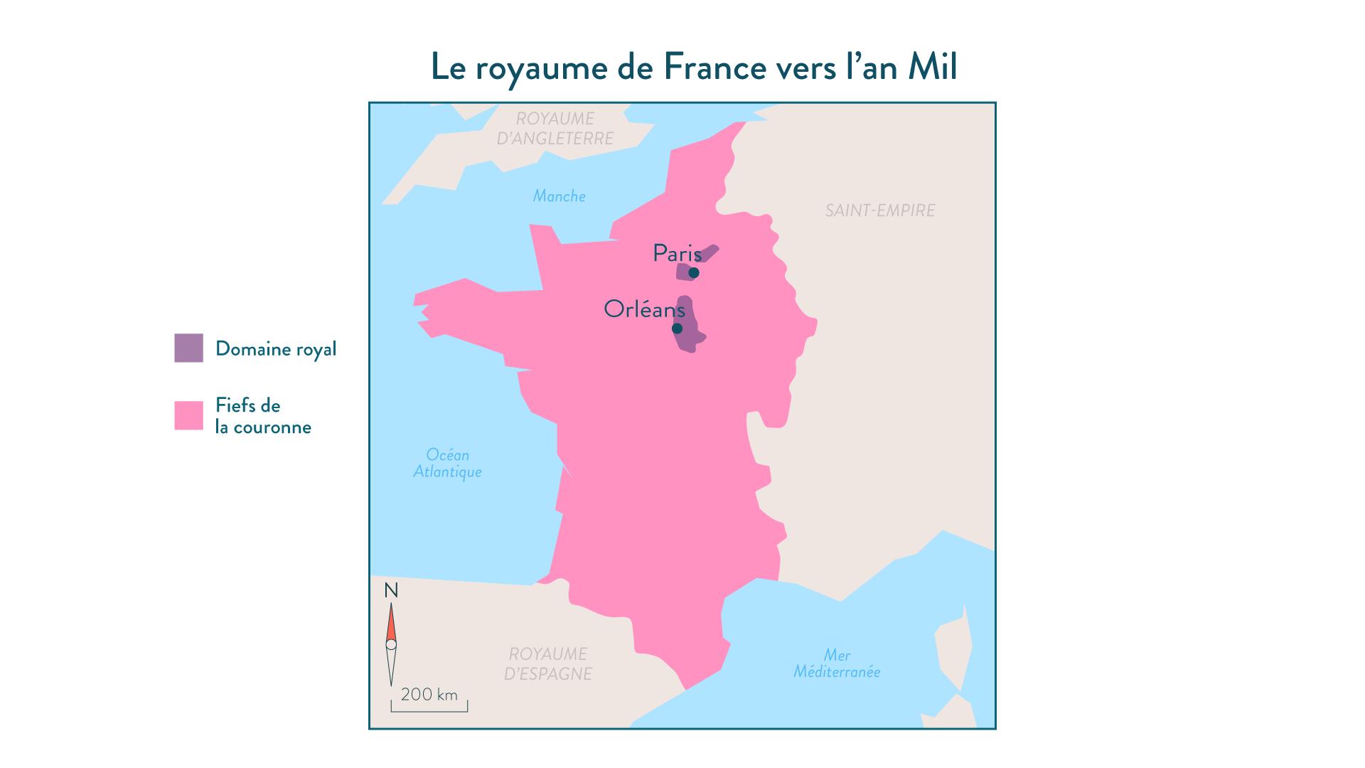 Le royaume de France vers l'an Mil - 5e - histoire