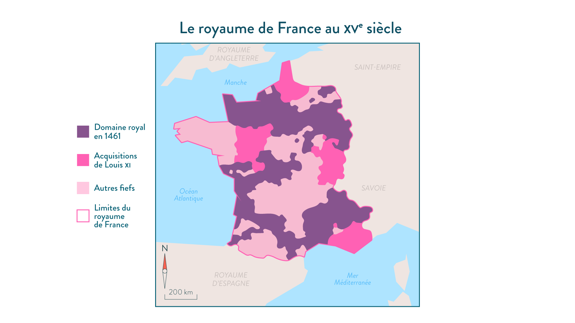 Le royaume de France au XV<sup>e</sup>siècle - 5e - histoire