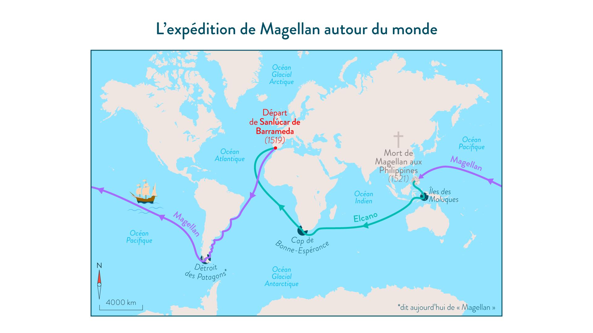 L'expédition de Magellan autour du monde - 5e - histoire
