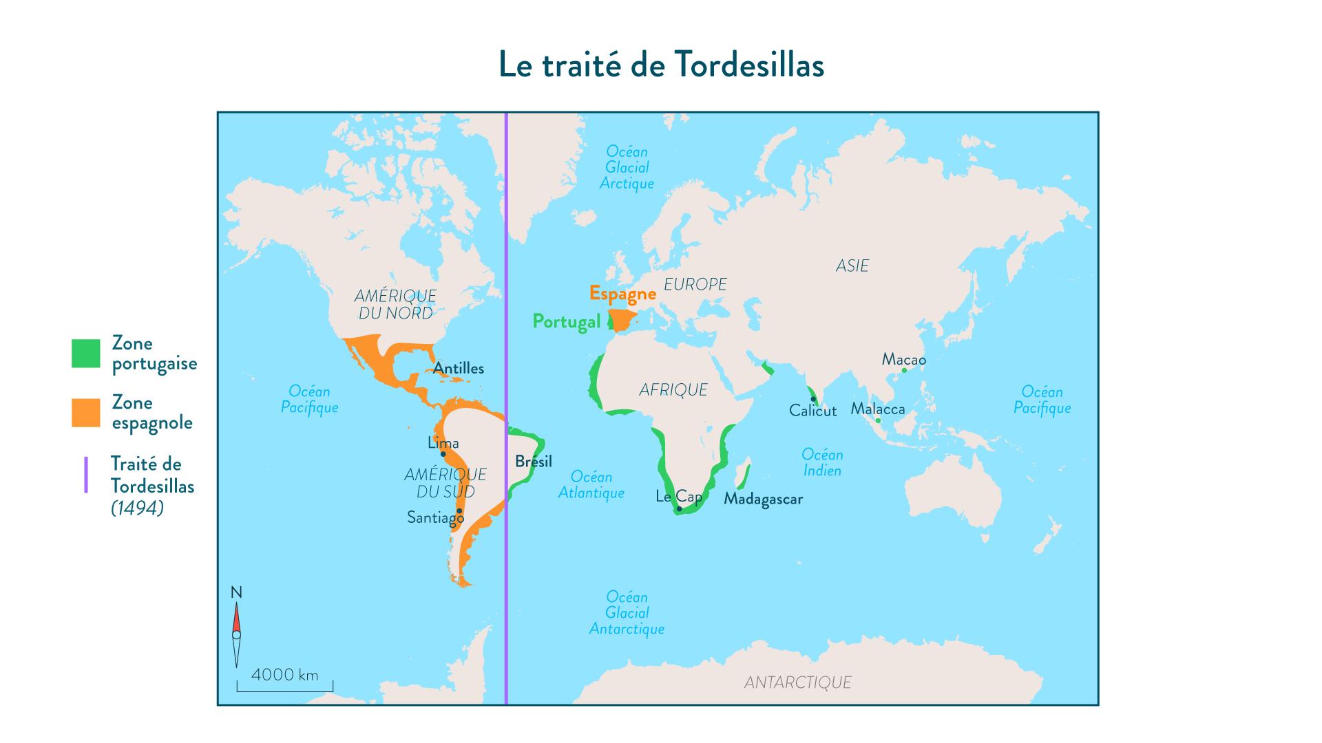 Le traité de Tordesillas -5e - histoire