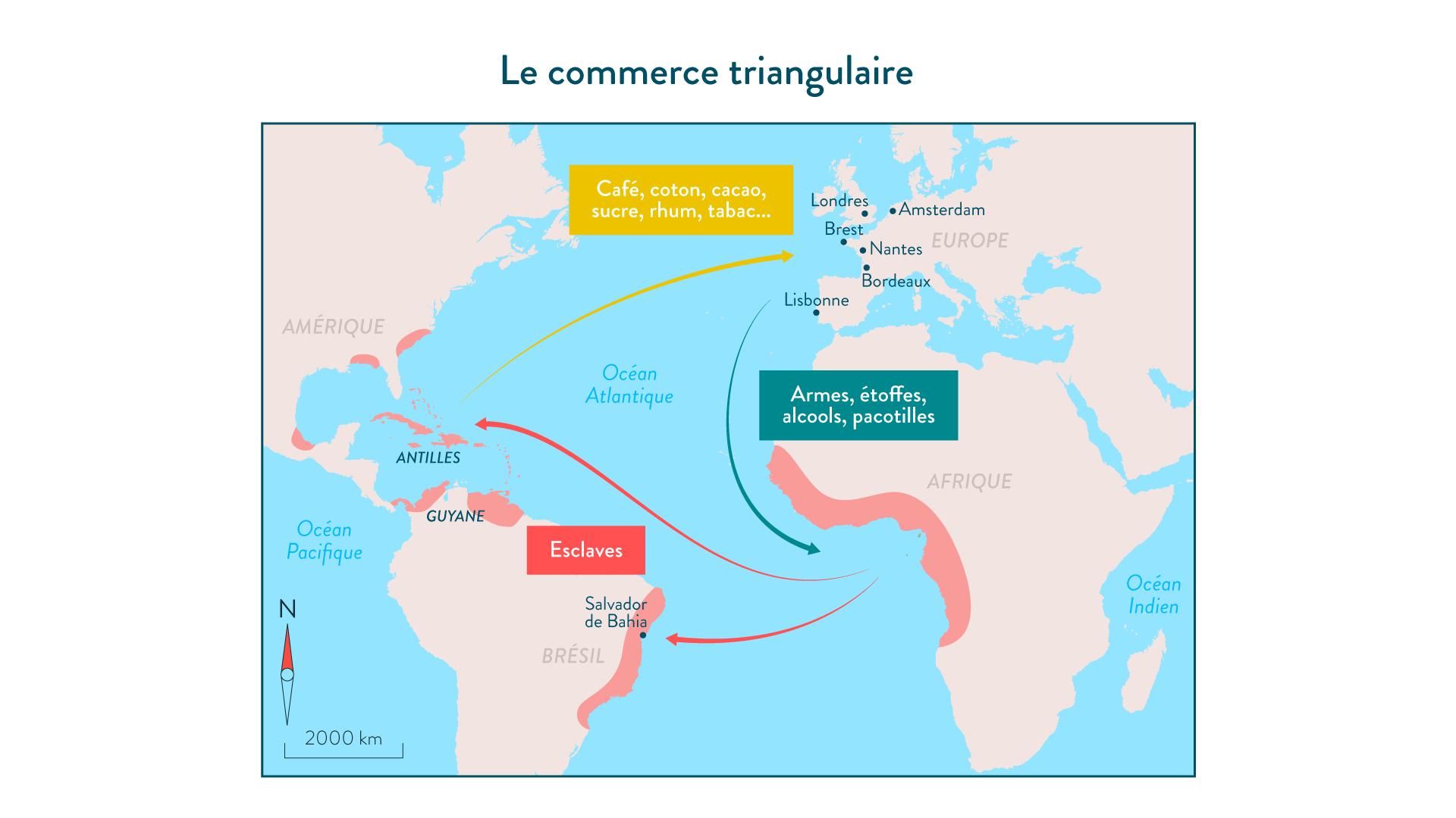 Le commerce triangulaire - 5e - histoire