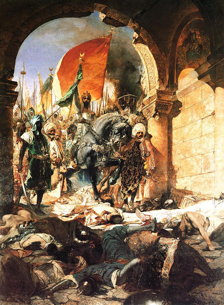 L'entrée du sultan MehmetII dans Constantinople le 29 mai 1453. Tableau de Benjamin-Constant, 1876, musée des Augustins