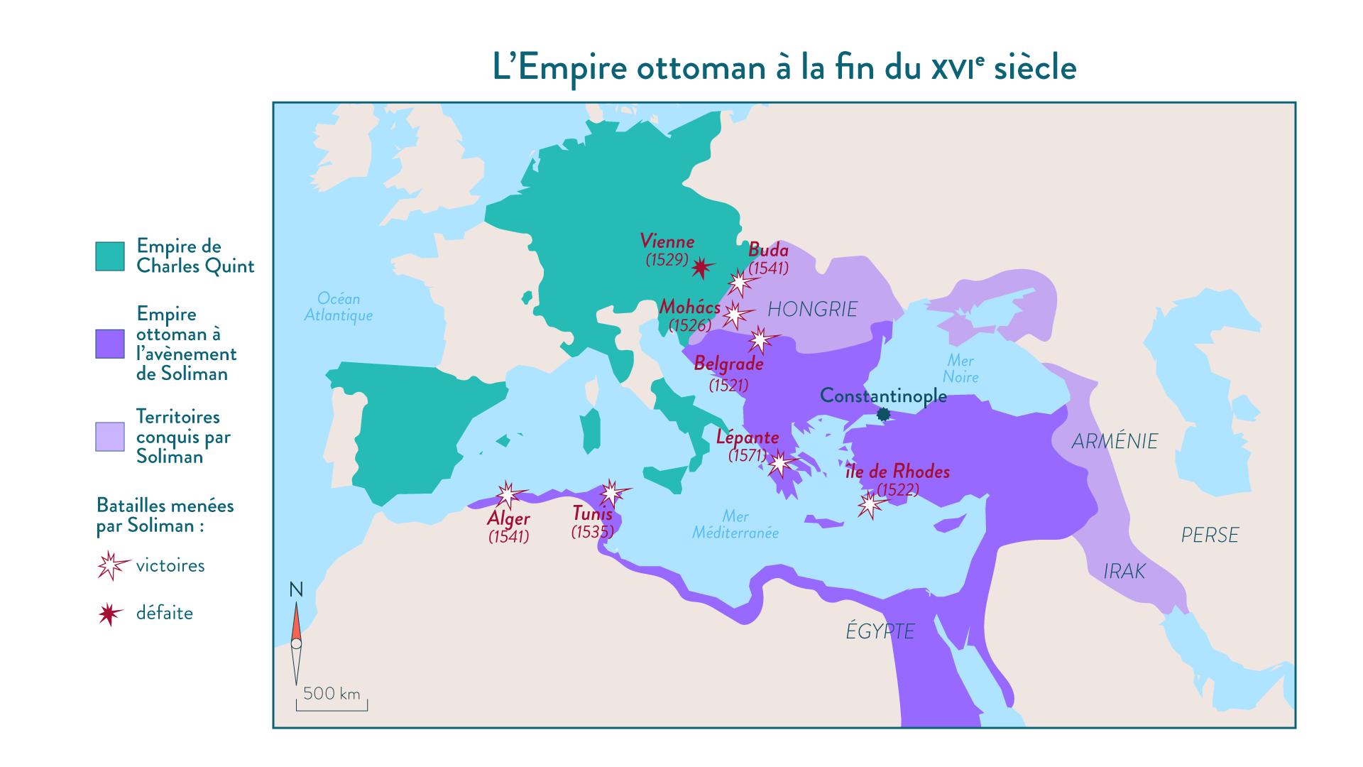 L'Empire ottoman à la fin du XVIe siècle - 5e - histoire