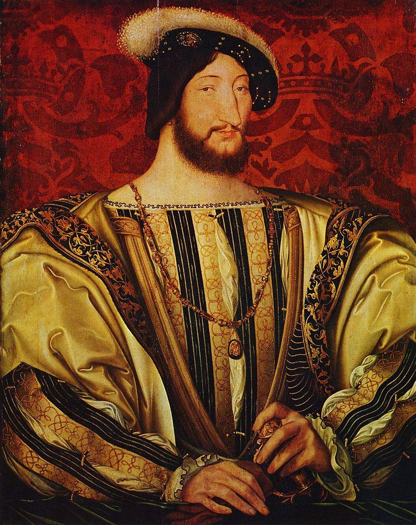 Portrait de François I<sup>er</sup>, roi de France de 1515 à 1547, peint par Jean Clouet, vers 1530