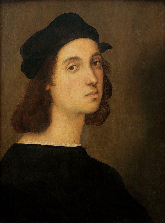Autoportrait de Raphaël, vers 1504-1506. Galerie des Offices, Florence