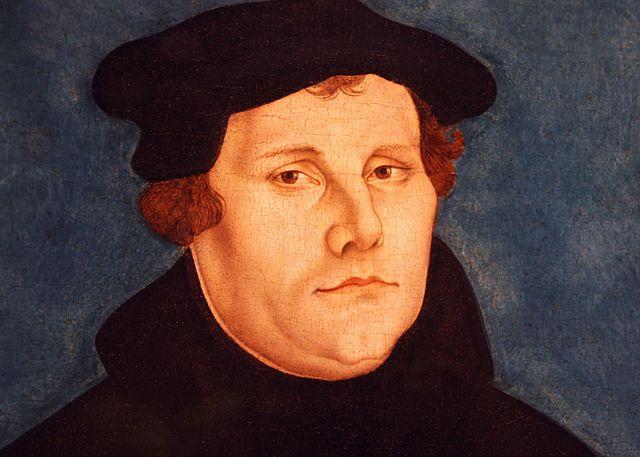 Portrait de Martin Luther, peint par Lucas Cranach l'Ancien,  Galerie des Offices, Florence, 1529