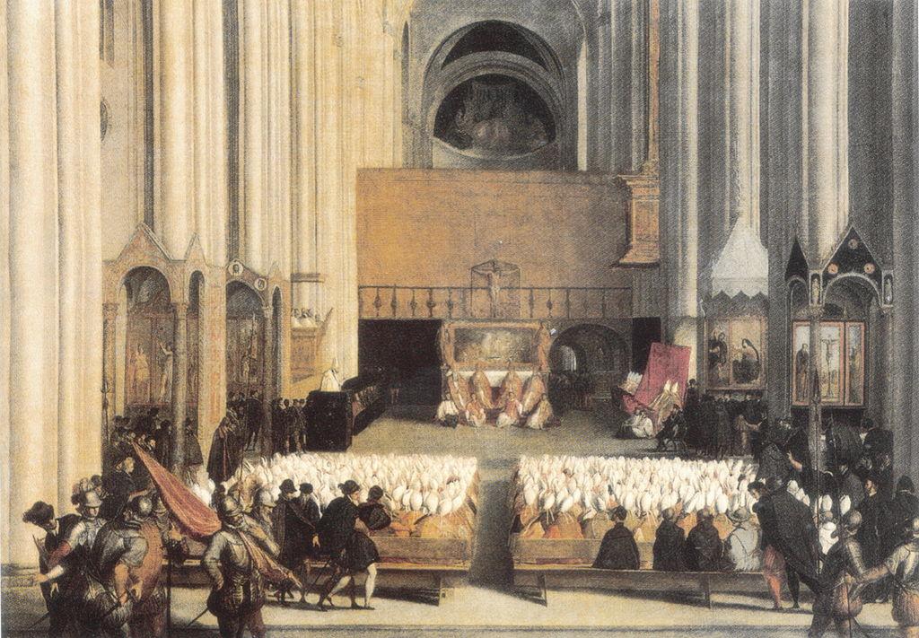 Le Concile de Trente. Peinture à l'huile de l'école vénitienne, XVI<sup>e</sup>siècle, musée du Louvre, Paris