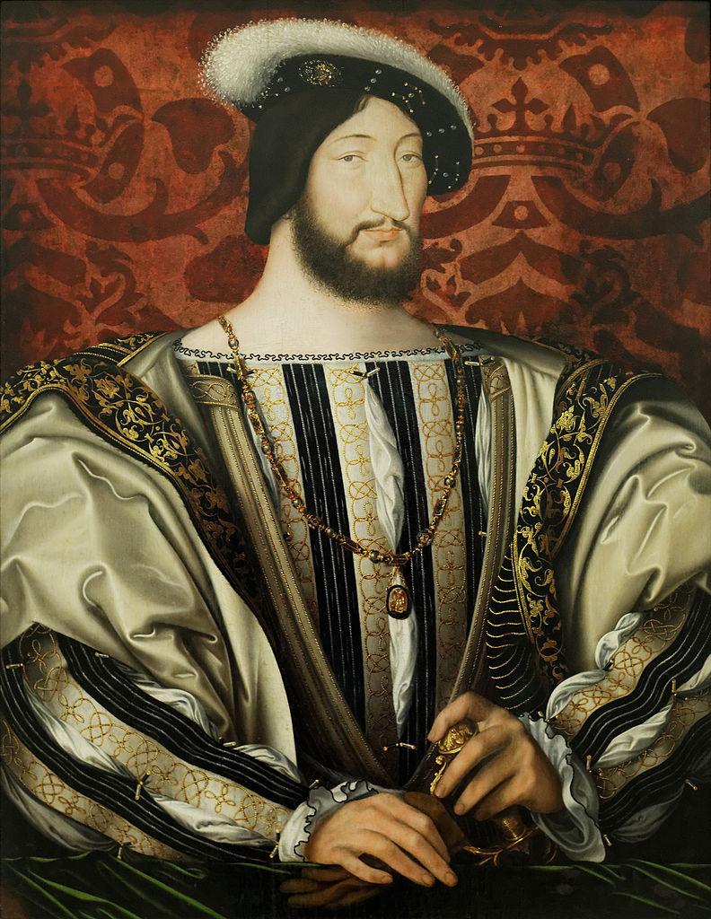 François 1er, par Jean Clouet, musée du Louvres, Paris, 1530