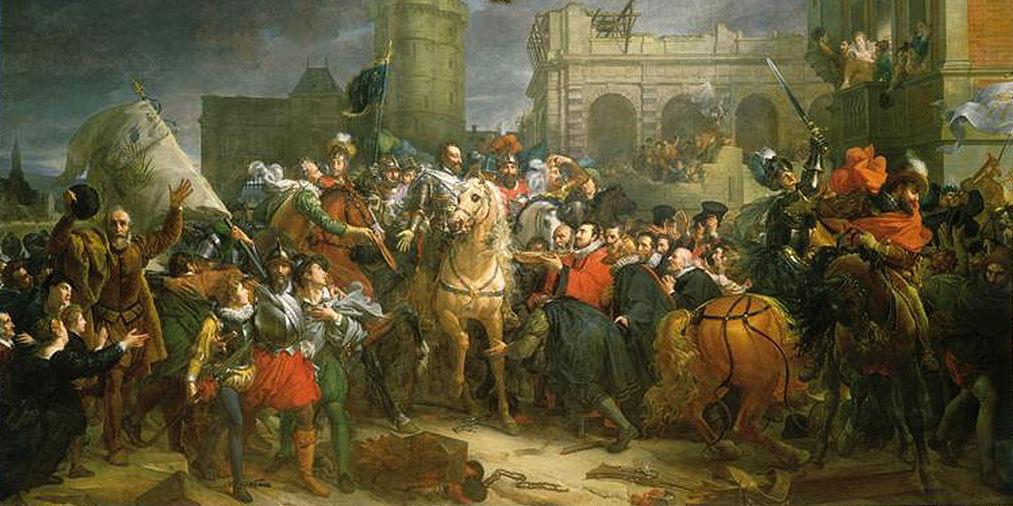 L'entrée triomphale d'HenriIV à Paris. Huile sur toile de François Gérard, 1817, château de Versailles