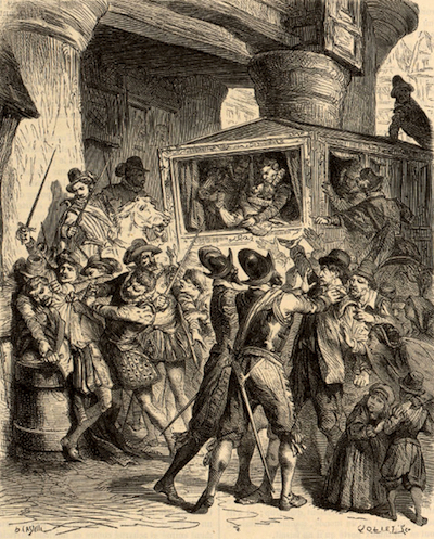 Assassinat d'Henri IV rue de la Ferronnerie, Horace Castelli. V. Duruy, Histoire populaire de la France, BNF, Paris, 1866