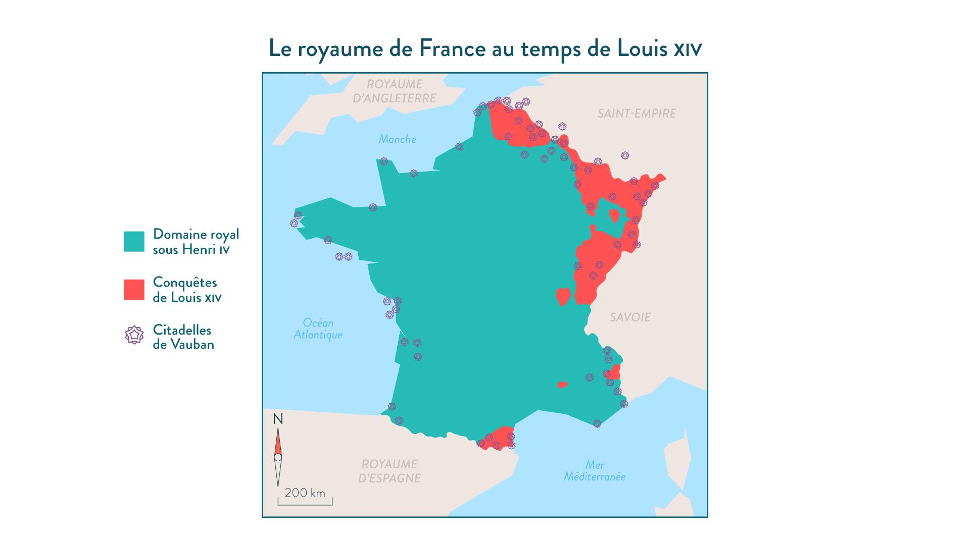 Le royaume de France au temps de Louis XIV - 5e - histoire