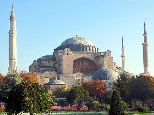 L'église Sainte-Sophie à Constantinople (aujourd'hui Istanbul) ©David Stanley